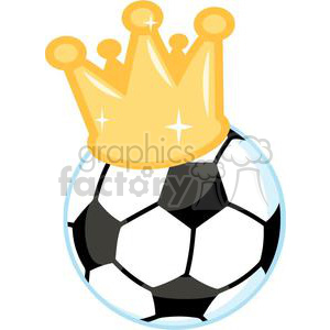 Soccer ball with crown clipart. Royalty-free image # 379693