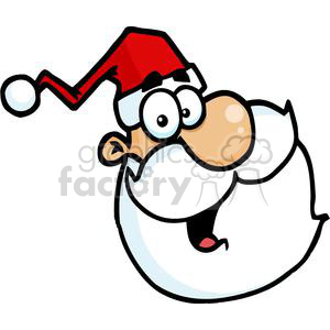 happy Santa Claus face clipart. Royalty-free image # 379703