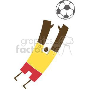 African American person jumping after soccer ball clipart. Commercial use image # 379718