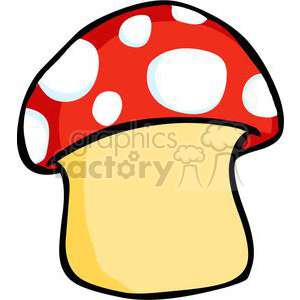 Polka dot mushroom clipart. Commercial use image # 379733