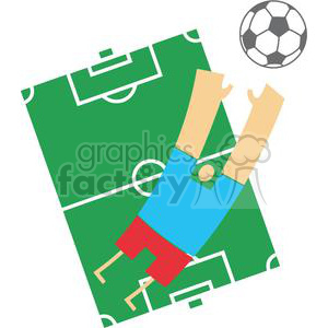 cartoon funny comical vector soccer player playing ball soccer+field