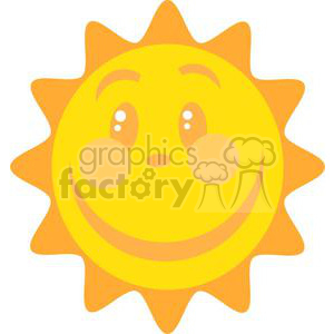 happy sun cartoon clipart. Royalty-free image # 379788