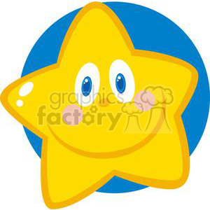 2680-Royalty-Free-Smiling-Little-Star-Cartoon-Character clipart. Royalty-free image # 379818