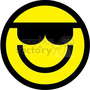 Emoticon With Sunglasses clipart. Commercial use image # 379823