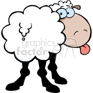 2669-Royalty-Free-Funky-Sheep-Sticking-Out-His-Tongue clipart. Commercial use image # 379828
