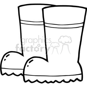 2413-Royalty-Free-Gardening-Tool-Boots clipart. Commercial use image # 379858