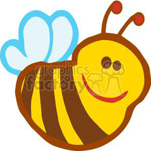 2626-Royalty-Free-Bee-Cartoon-Character clipart. Royalty-free image # 379878