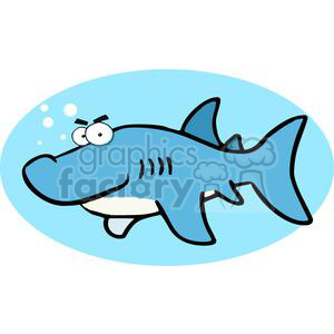 blue shark blowing out white bubbles clipart. Commercial use image # 379883