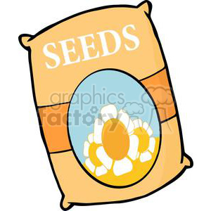 cartoon funny comical vector gardening garden tools landscaping flower flowers seed seeds