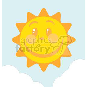 Smiling sun clipart. Commercial use image # 379928