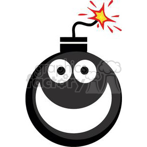 cartoon funny comical vector smiley emoticon smile bomb bombs