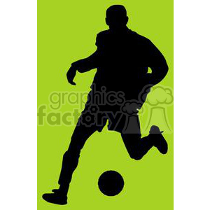 2539-Royalty-Free-Silhouette-Soccer-Player-With-Ball clipart. Royalty-free image # 379953