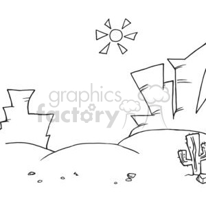 2703-Western-Landscape clipart. Commercial use image # 379958