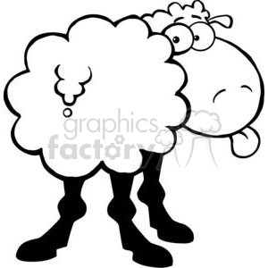 2668-Royalty-Free-Funky-Sheep-Sticking-Out-His-Tongue clipart. Royalty-free image # 379963