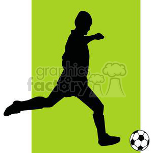 2536-Royalty-Free-Silhouette-Soccer-Player-With-Ball clipart. Royalty-free image # 379983