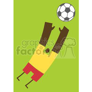 2514-Royalty-Free-Abstract-Black-Soccer-Player-With-Balll clipart. Commercial use image # 379998