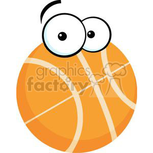 2565-Royalty-Free-Cartoon-Basketball-Ball clipart. Commercial use image # 380003