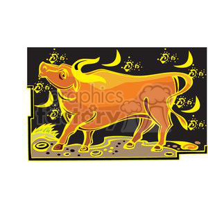 Chinese Zodiac Ox clipart. Royalty-free image # 380030