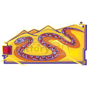 snake in the sand clipart. Royalty-free image # 380035