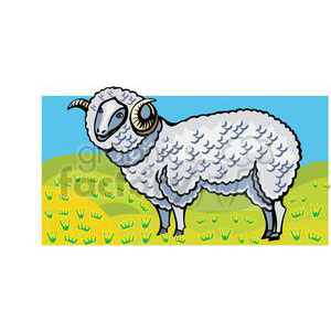 cartoon ram clipart. Royalty-free image # 380050