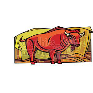 red ox clipart. Commercial use image # 380060