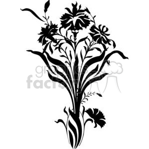 flower branch clipart. Commercial use image # 380070