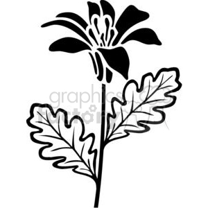 100-flowers-bw clipart. Royalty-free image # 380090