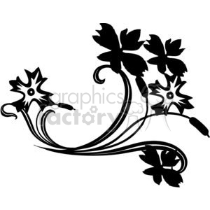 39-flowers-bw clipart. Royalty-free image # 380100