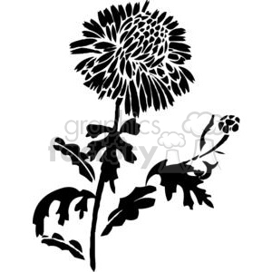 52-flowers-bw clipart. Royalty-free image # 380120