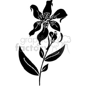 60-flowers-bw clipart. Royalty-free image # 380130