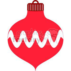 Christmas Ornament With White Squiggly Clipart Royalty Free Clipart 381023
