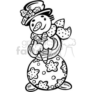 Christmas snowman clipart. Commercial use image # 381110