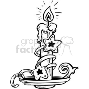 Christmas candle decorated clipart. Royalty-free image # 381115