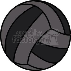 black volleyball clipart. Commercial use image # 381176