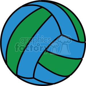 volleyball green blue clipart. Commercial use image # 381183