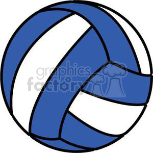 volleyball blue and white clipart. Royalty-free image # 381196