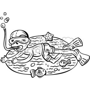 child snorkeling clipart. Commercial use image # 381526