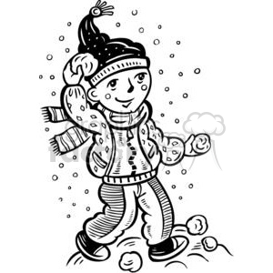 snowball fight clipart. Royalty-free image # 381531