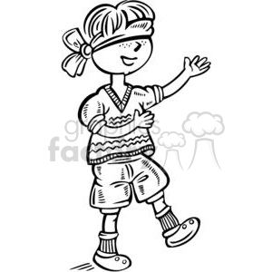 boy blindfolded clipart. Commercial use image # 381541