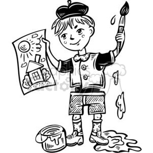 cartoon boy artist clipart. Commercial use image # 381576