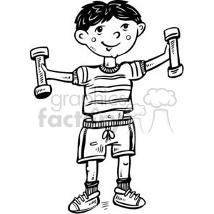 boy exercising clipart. Commercial use image # 381581