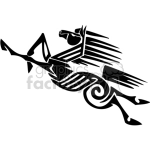 fast horse design clipart. Commercial use image # 383638