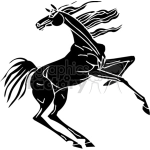 excited horse design clipart. Royalty-free image # 383648