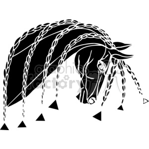 braided horse hair clipart. Royalty-free image # 383668