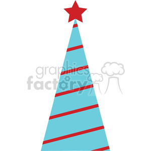 striped Christmas tree design clipart. Royalty-free icon # 383685