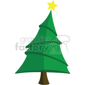 cartoon Christmas tree clipart. Royalty-free image # 383700