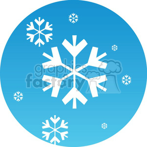 Christmas snow icon clipart. Royalty-free image # 383705