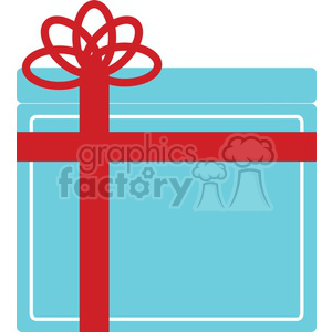 blue Christmas gift clipart. Royalty-free image # 383715