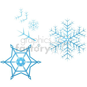 vector snowflake parts clipart. Royalty-free image # 383720