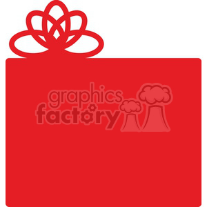red Christmas gift icon clipart. Royalty-free image # 383725